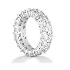 2.80 Ct diamonds white gold eternity wedding band